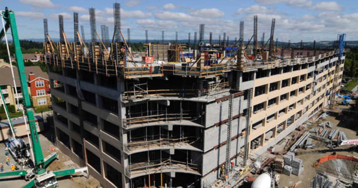 construction industry building up economy