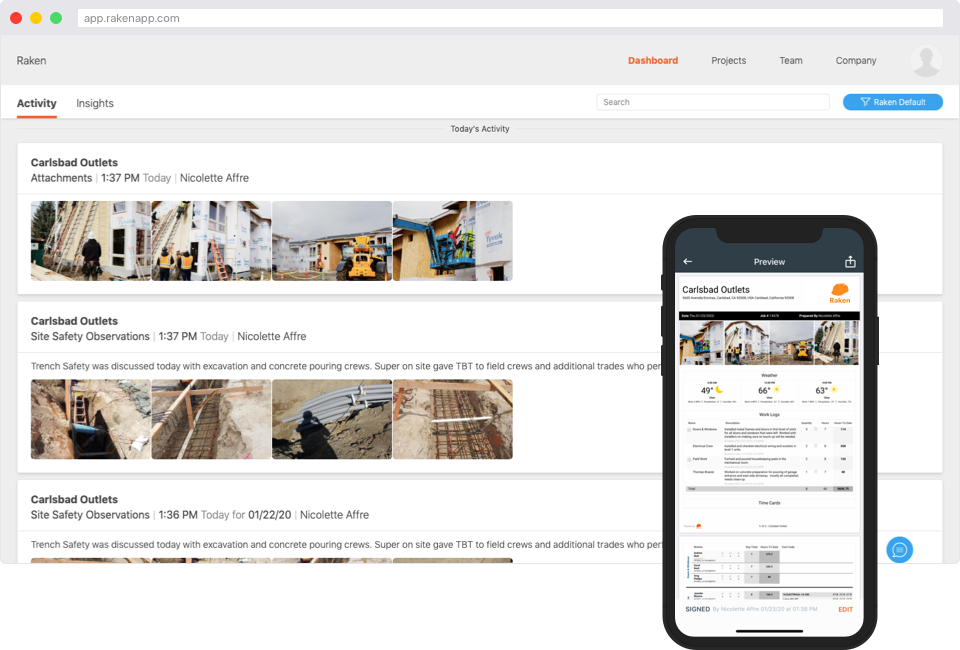 construction software for daily reporting
