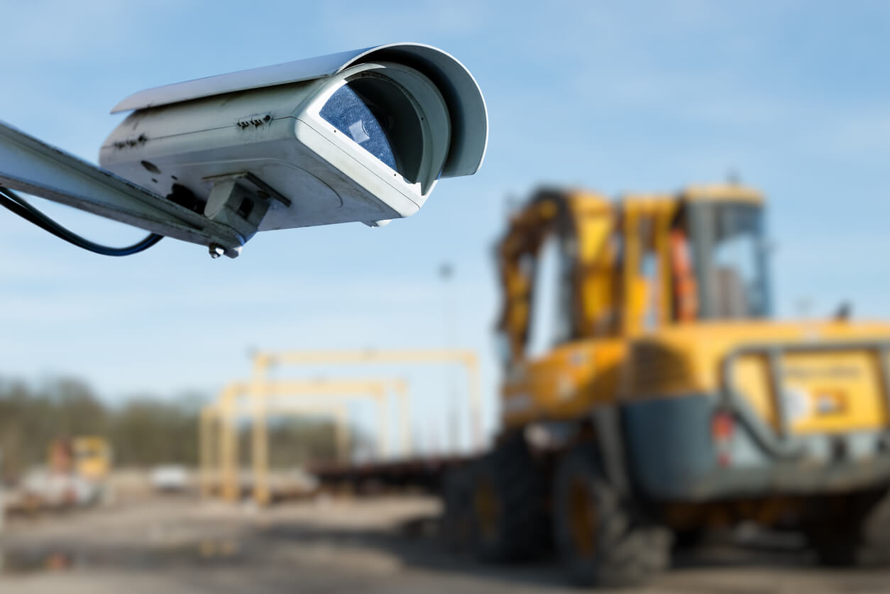 security camera on a construction site