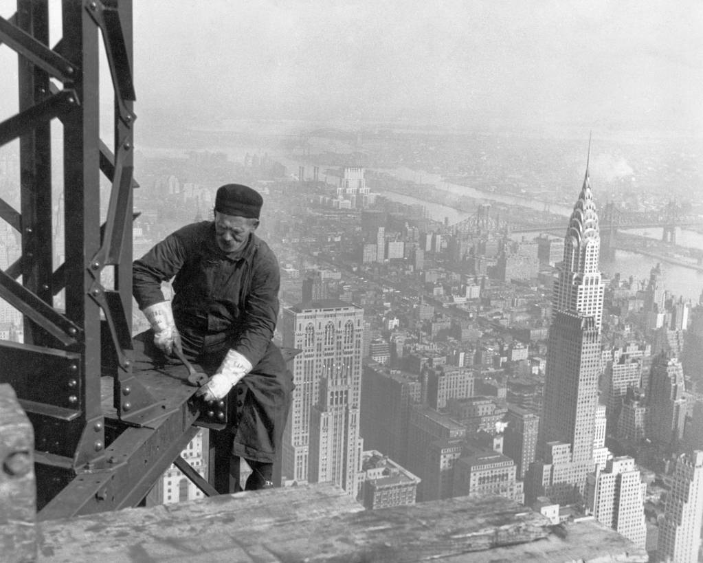 empire state building construction worker
