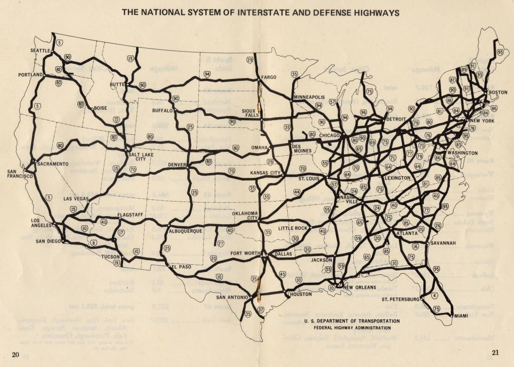 interstate highway map