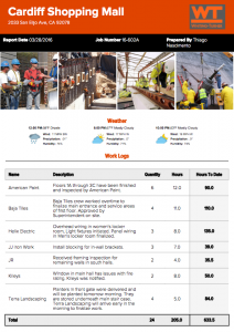construction daily reporting template