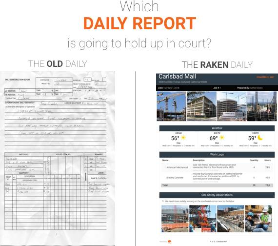 construction daily report litigation