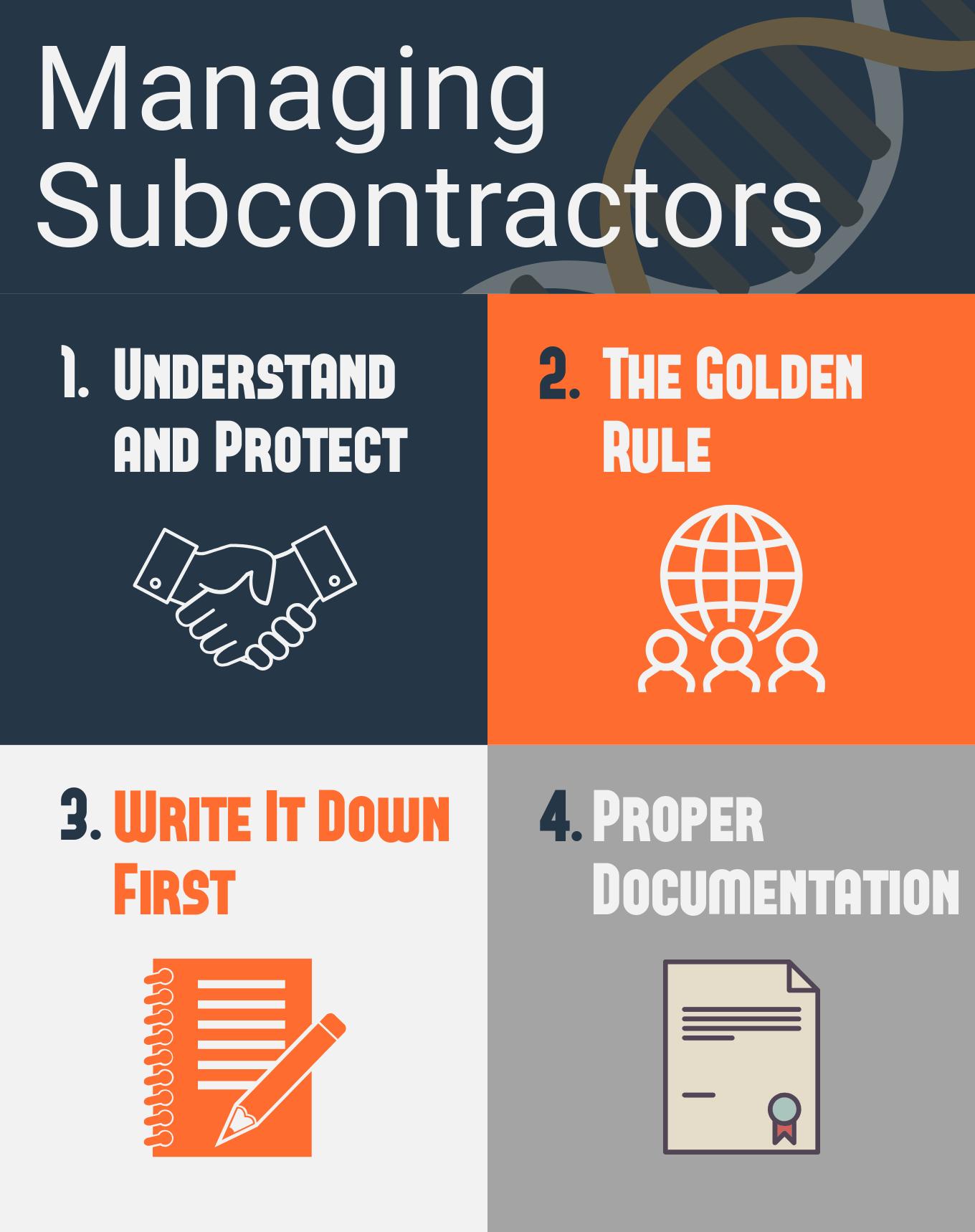 managing subcontractors infographic